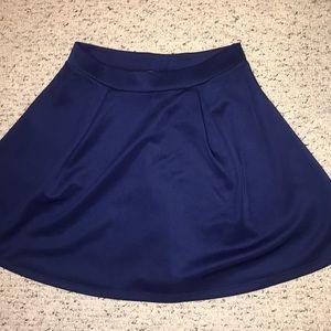 Royal Blue Skater Skirt!